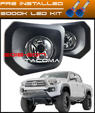 2016 2017 Toyota Tacoma LED Fog Lights Clear Bumper Lamp + Switch and Wiring Kit