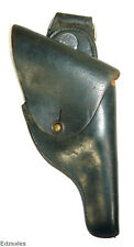 Vintage Black Full Closure Leather Police Service Duty Holster