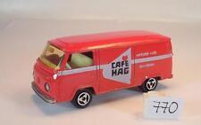 Majorette 1/60 Nr. 244 VW Volkswagen T2 Fourgon Kasten rot Cafe Hag Nr. 5 #770