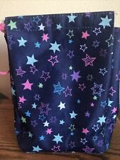 New listing Navy Blue With Pink Purple Green Stars Insulated Child Lunch Sack