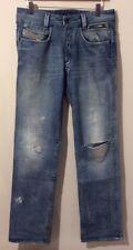 Diesel Paddom Special Jeans 30 32 Blue Used DIESEL JEANS W30 L32 DISTRESSED LOOK
