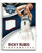 RICKY RUBIO 2014-15 PANINI TOTALLY CERTIFIED JERSEY RED 009/149 1/1
