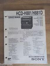 Schema SONY - Service Manual Mini Hifi Component System HCD-H881 HCD-H881D