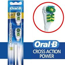 Original Braun Oral-B CrossAction Power Whitening Toothbrush 2 Brush Heads