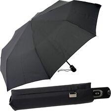 PICARD Damen-Herren-Regenschirm - schwarz-grau - Taschenschirm Automatik Schirm