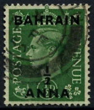 Bahrain 1948-9 SG#51, 1/2a On 1/2d Pale Green KGVI Used #D48852