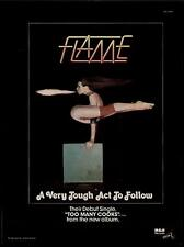 """1978 FLAME """"TOO MANY COOKS"""" RECORD PROMO AD"""