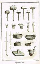Diderot Enclyclopedie FAYENCERIE OUTILS (TOOLS)  Antique Engravings  1751-72