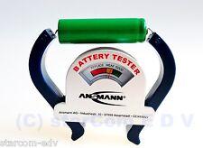 Ansmann Batterietester Battery Tester Batterie Akku-Test Design Prüf-Gerät