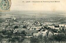 Carte LAON Panorama du Faubourg Saint Marcel