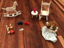 Vintage Miniature  Dollhouse Antique Furniture and accessories Lot