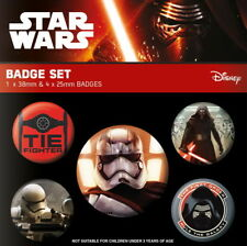 STAR WARS EPISODE VII Ansteck-Buttons 5er First Order - 2,5 & 3,8 cm-Neuf
