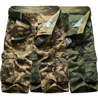 Fashion Mens Camouflage Casual Shorts Multi-Pocket Summer Beach Loose Pants