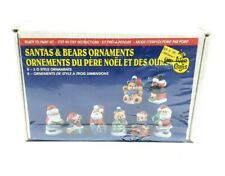 Wee Crafts Christmas Ornaments Santas & Bears 3D Style 8 Count Easy To Paint