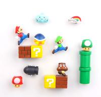 12pcs Game Super Mario 3D PVC Refrigerator Magnets Fridge Note Posted Sticker