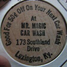 Vintage Mr. Magic Car Wash Lexington, KY Wooden Nickel Token - Kentucky