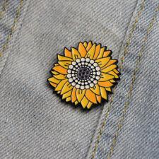 Van Gogh Sunflower Brooch Pin Badge Enamel Backpack Bag Jeans Decoration Co