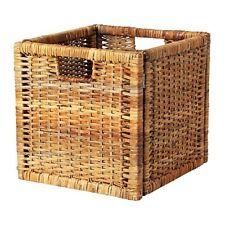 IKEA Branäs basket, rattan 32x34x32 cm Storage Box Crate Shelf Boxes Kallax