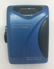 Optimus Am/Fm Stereo Cassette Personal Cassette Player Vintage Scp-82 Read