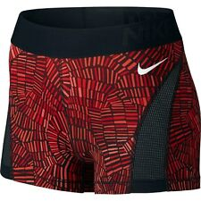 NIKE PRO dri fit SHORTS SIZE  MEDIUM red black PRINT TIDAL HYPERCOOL 3''