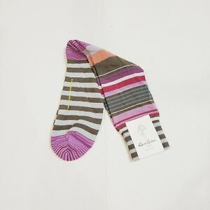 Robert Graham Striped Multicolor Dress Socks New With Tags Mens
