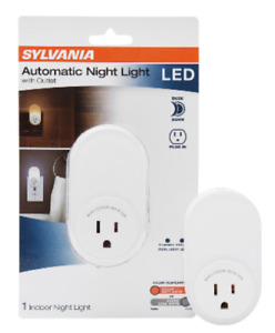 Sylvania Automatic LED Night Light with Integrated Outlet