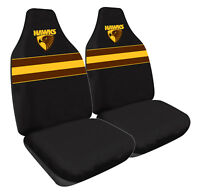AFL Front Car Seat Covers - Hawthorn Hawks - Set Of 2 One Size Fits All