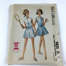 McCall's Printed Pattern Sewing # 6825 Misses Tennis Dress Pants Size 16 Bust 36
