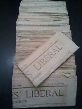 Rare collection du journal Progrès Libéral 1873 X 47 et 1874 X 1 Pliés & propres