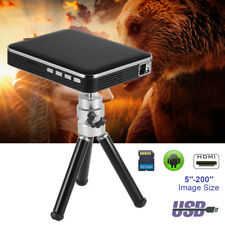 Mini Pocket Projector HD 1080P Phone USB Disk TF Card Home Theater Cinema AH450