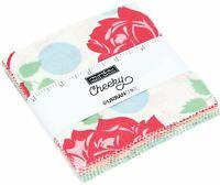 "Cheeky Moda Charm Pack 42 100% Cotton 5"" Precut Fabric Quilt Squares"