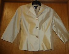 Womans sz 6 - Pale Gold  BLAZER - Ann Taylor - Fully lined. 100% silk - Exellent