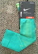 Mens 4-5.5 Womens 5.5-7 Nike Elite Compression OTC Running Run Socks Green
