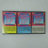 Rock Stars on LP volumes 2, 3 & 5 Cassette lot of 3 Various Artists