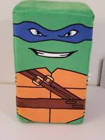 "TMNT Plush Teenage Mutant Ninja Turtles Leonardo 8"" Cube Stuffed Animal Toy"