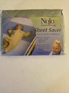NoJo Crib Sheet Saver Liner Protector GREEN Soft Quilted, Ribbed Water Resistant