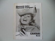 advertising Pubblicità 1974 CAMPARI SODA