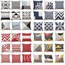 Stripe Geometric Cotton Pillow Case Waist Throw Cushion Cover Home Sofa Decor