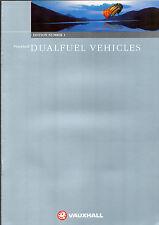 Vauxhall Dualfuel 1998 UK Market Sales Brochure Vectra Omega Combo LPG CNG
