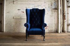 Ohrensessel Sessel Fernseh Design Polster Sofa Couch Chesterfield Textil Neu 355
