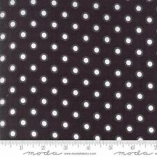 Moda Lella Boutique Olive's Flower Market Parisian Dots Fabric in Black 5036-14