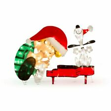 Lighted Schroeder and Dancing Snoopy Peanuts Christmas Decoration