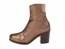 NIB $660 MM6 Maison Martin Margiela Bronze Glitter Boot 35 (US 5 )