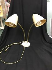 Vintage Mid Century Modern Style industrial TABLE LAMP Light Two Adjustible Arms