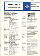 Telefunken Service Manual Schaltplan bajazzo compact 3000  B1405
