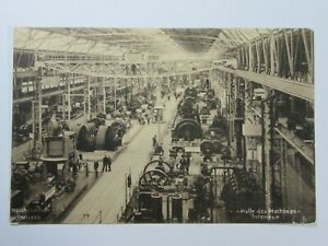 Ex189 - 1914 BERN Swiss National Exhibition - FACTORY MACHINES HALL Postcard