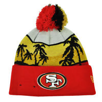 NFL New Era San Francisco 49ers Winter Beachin Knit Beanie Pom Pom Cuffed Hat