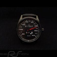 Montre compteur de vitesse Porsche 911 300 km/h boitier noir / fond noir / chiff