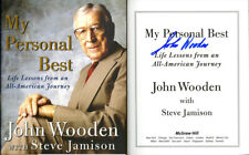 Coach John Wooden SIGNED AUTOGRAPHED My Personal Best HC UCLA Basketball Pryamid