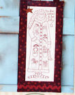 PATTERN - Jolly Santa - Christmas stitchery PATTERN + fabric